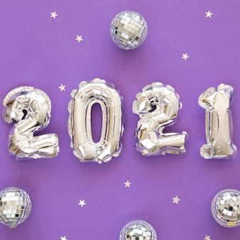 Schönes und glitzerndes neujahrskonzept