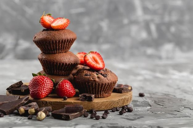 Schönes und leckeres dessertkonzept