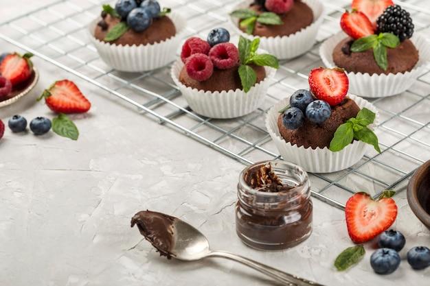 Schönes und leckeres dessertsortiment