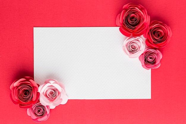 Schönes valentinstagkonzept mit rosen