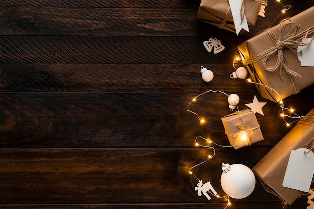 Schönes weihnachtskonzept mit kopierraum