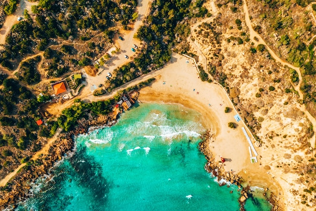 Schönes zypern, konnos bay im naturpark cape greko,