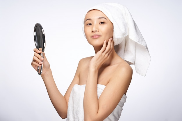 Schönheit asiatische frau hautpflege, schönheit