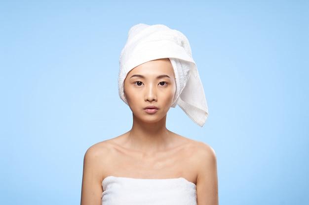Schönheit asiatische frau hautpflege