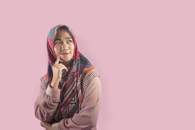Schönheit indonesische frau mit schleier