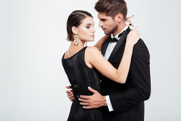 Schönheitsgeschäftsleute tanzen. kuscheln