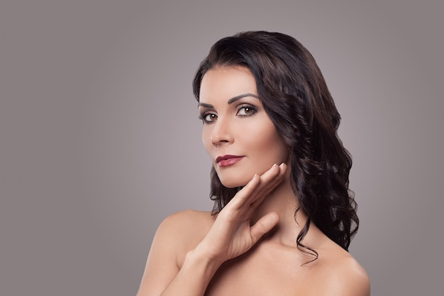 Schönheitsporträt, make-up-porträt, make-up