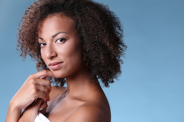 Schönheitsporträt, schminken