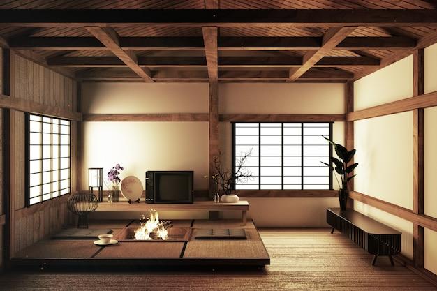Schönste innenarchitektur, modernes wohnzimmer mit fernseher