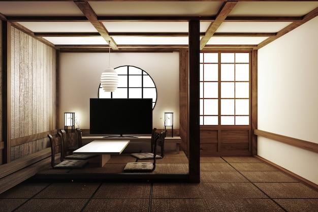 Schönste innenarchitektur, wohnzimmer mit fernseher