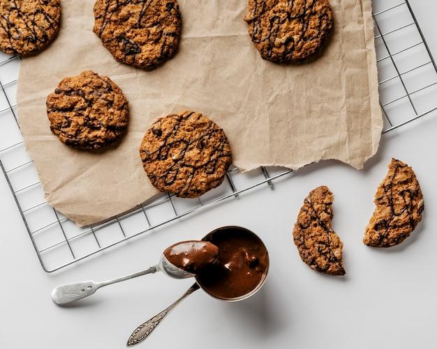 Schokolade für kekse glasur