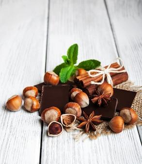 Schokolade mit nüssen