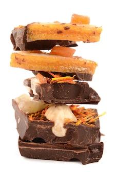Schokolade mit obst und nüssen