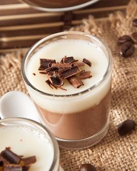 Schokolade panna cotta