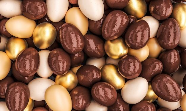 Schokolade und goldene eier