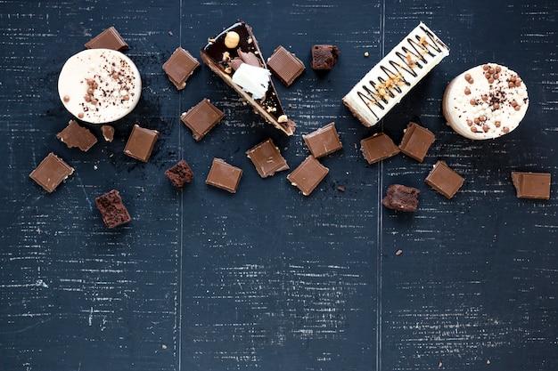 Schokolade und kuchen