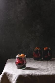 Schokoladen-halloween-nachtisch