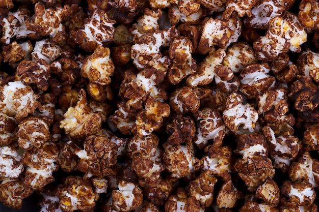 Schokoladen-popcorn-hintergrund