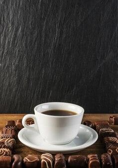 Schokoladen-süßigkeiten-hintergrund