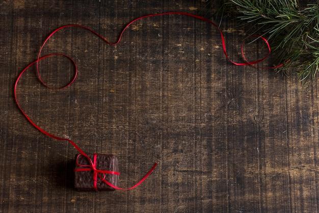 Schokoladen- und weihnachtskonzept