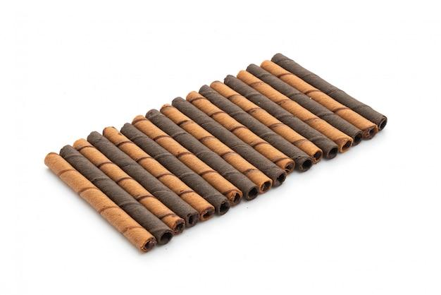 Schokoladen-waffel-stick-rolle