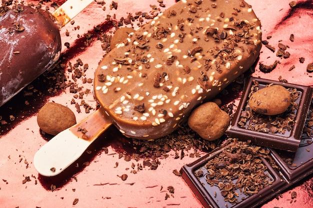 Schokoladeneis am stiel