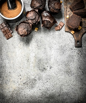Schokoladenfrische muffins.