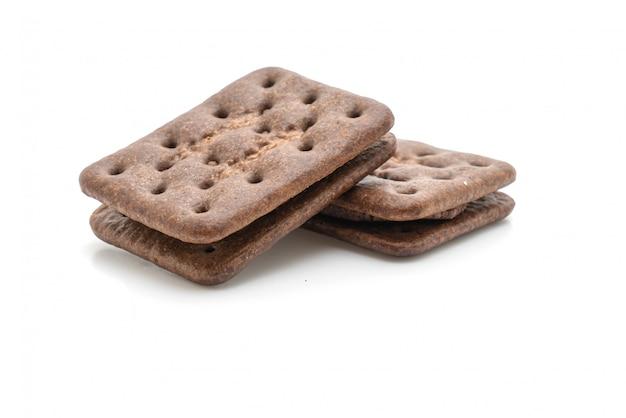 Schokoladenkekse mit schokoladencreme