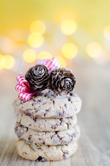 Schokoladenkekse zu weihnachten.