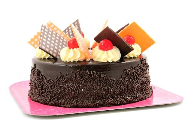 Schokoladenkuchen isoliert