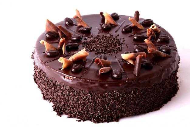 Schokoladenkuchen mit getrockneten früchten