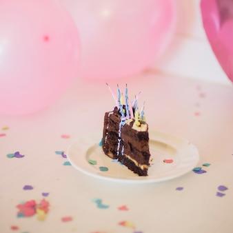 Schokoladenkuchenscheibe