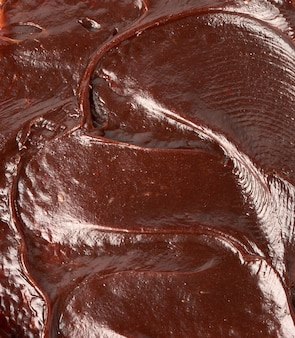 Schokoladenpasten-textur, köstliche und nahrhafte sandwich-zutat