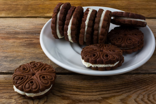 Schokoladenplätzchen sandviches