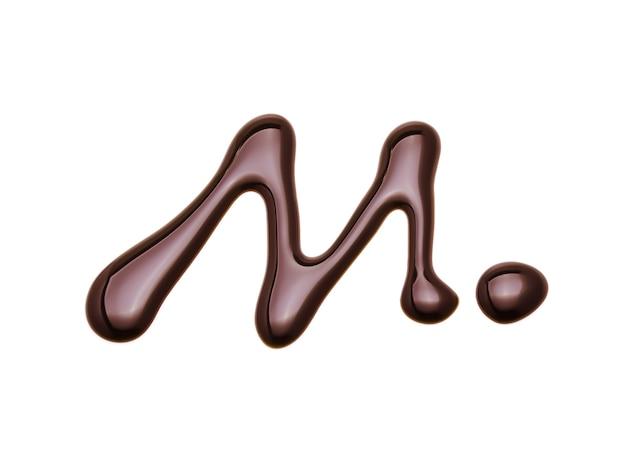 Schokoladensauce isoliert auf weiß