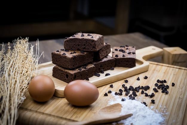 Schokoladenschokoladenkuchennachtisch