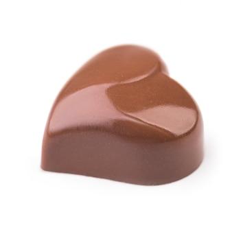Schokoladentrüffel in form des herzens