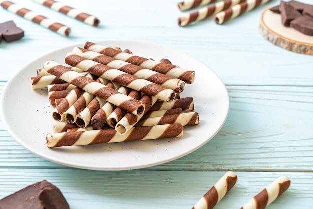 Schokoladenwaffeln stick roll