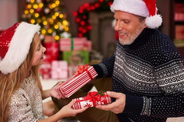 Schon ein kleines geschenk wird zum großen geschenk