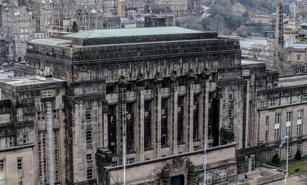 Schottisches parlament vom calton hill aus gesehen