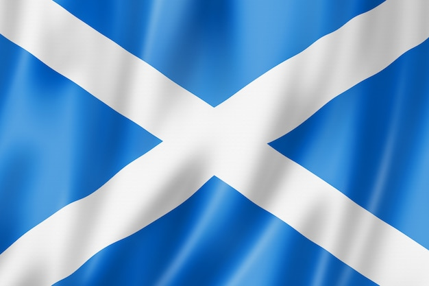 Schottland-flagge, großbritannien
