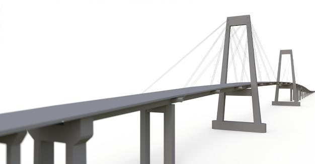 Schrägseilbrücke mit straßenüberführung