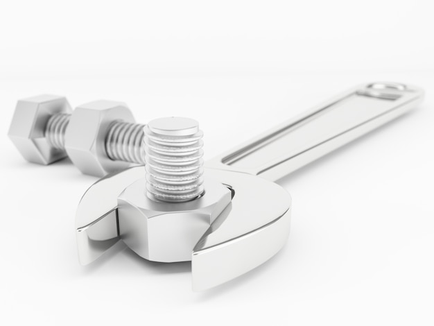 Schraubenschlüssel mit schraube
