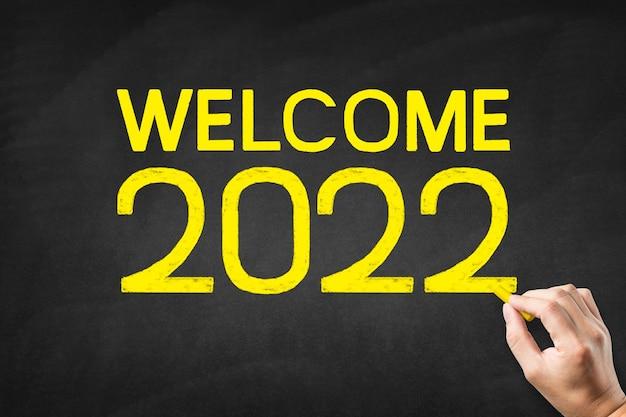 Schreiben sie grüße für 2022 an die tafel