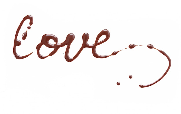 Schreiben und malen mit schokolade