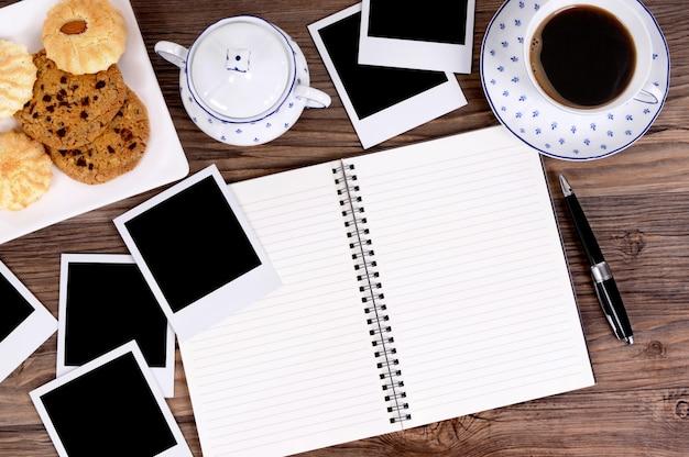 Schreiben während der teestunde
