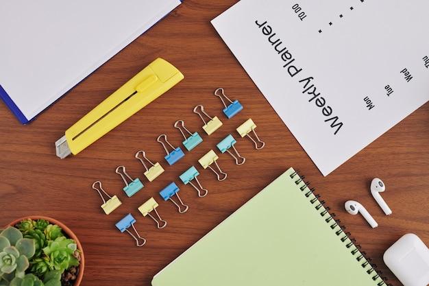 Schreibtisch des studenten