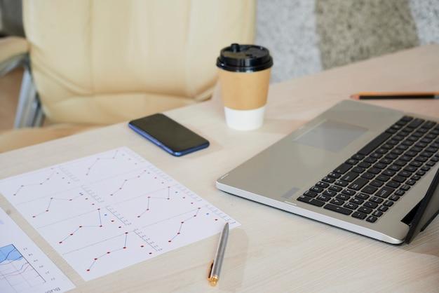 Schreibtisch des unternehmers