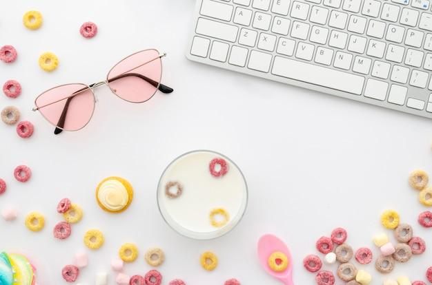Schreibtischanordnung für fruchtschleifengetreide