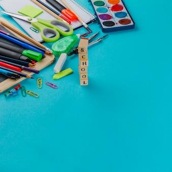 Schreibwaren in komposition
